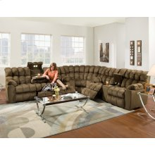 Reclining Sofa w/Drop Down Table, Light & Drawer