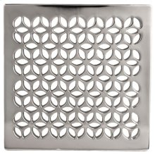 """Forever Brass - PVD 4"""" Square Shower Drain"""