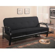 Transitional Black Futon Frame