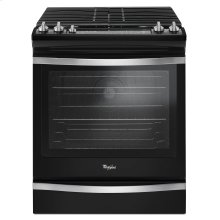 5.8 Cu. Ft. Slide-In Gas Range with EZ-2-Lift Hinged Grates Black Ice