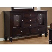 Sandy Beach Cappuccino Eleven-drawer Dresser