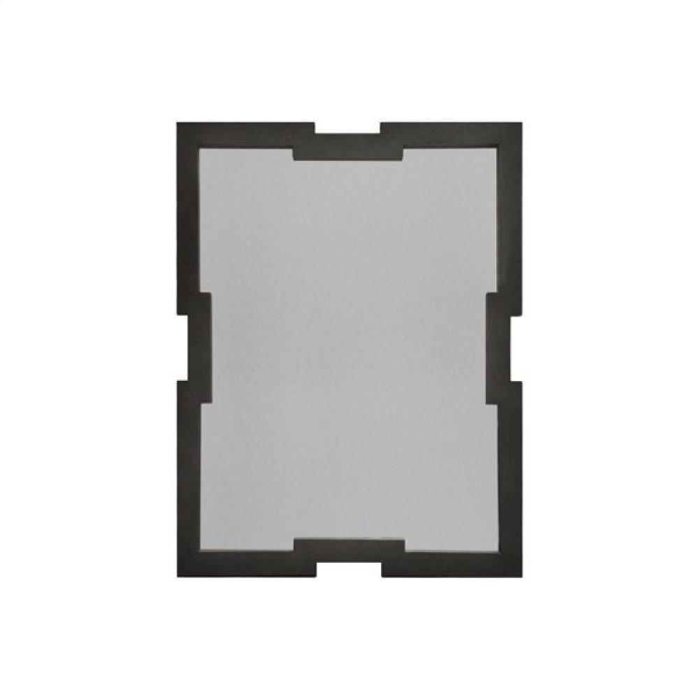 Classic Frame Mirror In Dark Grey Shagreen
