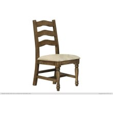 Solid Wood Chair w/fabric seat Bonanza Finish