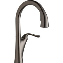 Elkay Harmony Single Hole Kitchen Faucet with Pull-down Spray and Forward Only Lever Handle Antique Steel