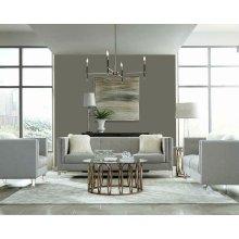 Hemet Light Grey Modern Loveseat