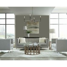 Hemet Light Grey Modern Loveseat