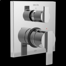 Chrome Angular Modern Monitor ® 14 Series Valve Trim with 3-Setting Integrated Diverter