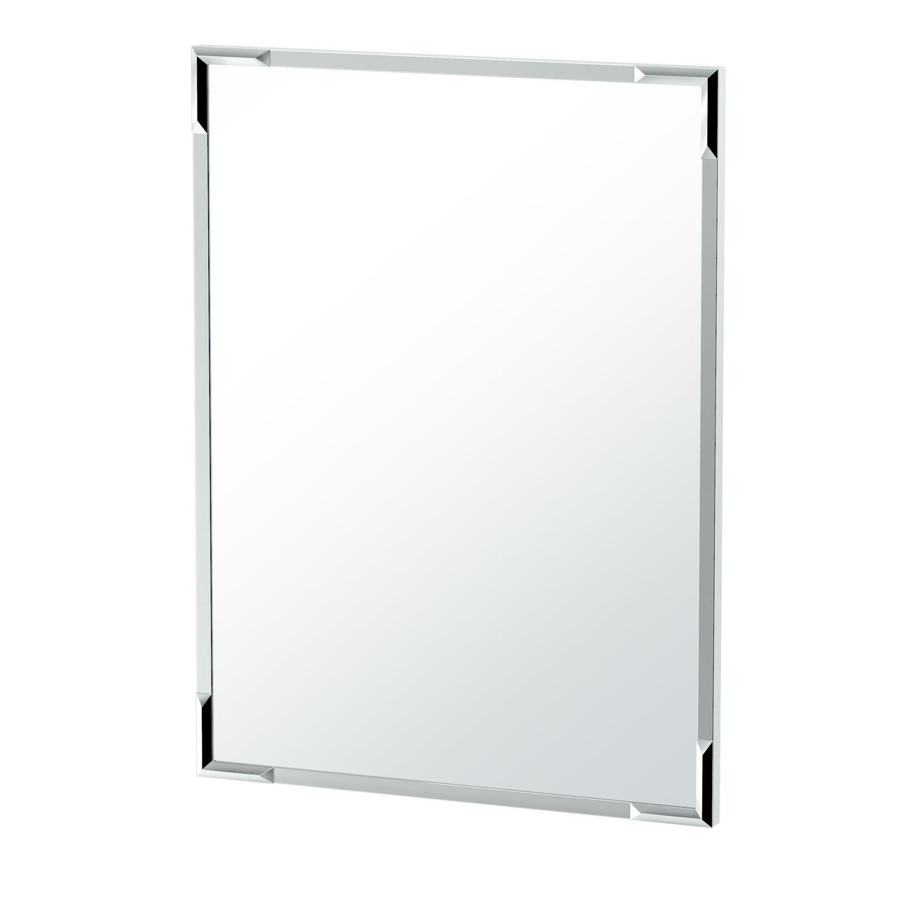 Flush Mount Facet Mirror in Chrome