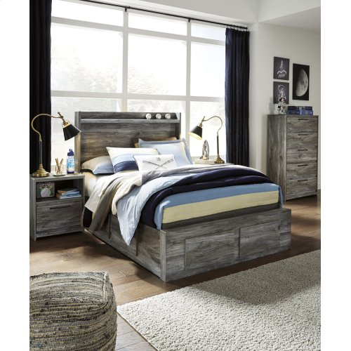 Baystorm - Gray 5 Piece Bed Set (Full)