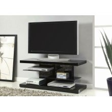 Contemporary Glossy Black TV Console