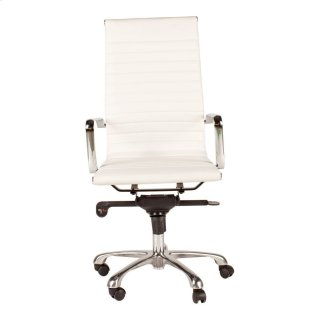 Omega Swivel Office Chair High Back White