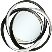 Transitional Black and Silver Mirror