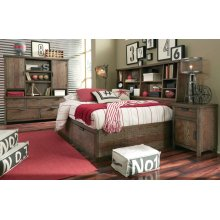 Fulton County Bookcase Lounge Bed, Twin 3/3