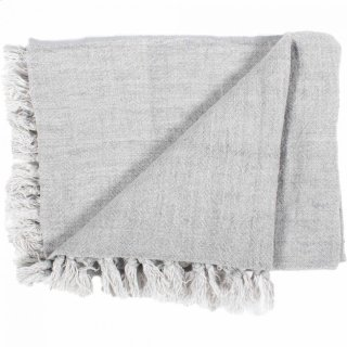 Lemmy Heavy Linen Throw Grey
