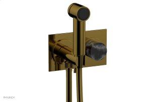BASIC II Wall Mounted Bidet Marble Handle 230-67 - French Brass Product Image