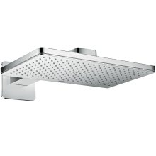 Chrome Overhead shower 460/300 1jet with shower arm and softcube escutcheon