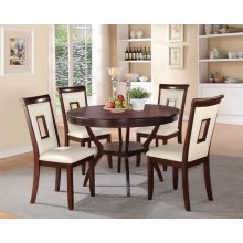 WHITE 5PC PK DINING SET