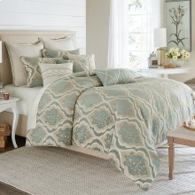 9pc Queen Comforter Set Spa