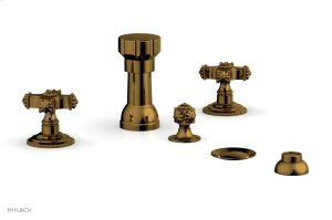 MARVELLE Four Hole Bidet Set 162-60 - French Brass Product Image