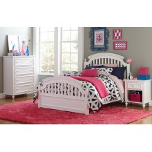 Academy - White Panel Bed Twin 3/3