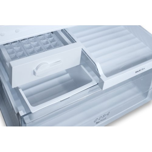 Frost-free Energy Star Certified Bottom Freezer Refrigerator In Stainless Steel With Digital Controls and A Counter Depth Fit