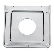 Square Chrome Gas Burner Pan