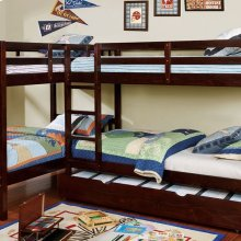 Marquette L-shaped Quadruple Twin Bunk Bed