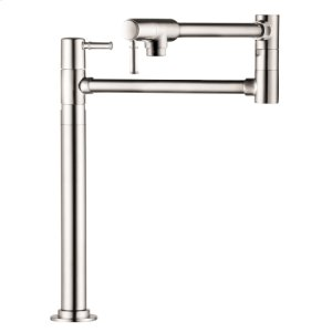Polished Nickel Pot Filler, Deck-Mounted Product Image