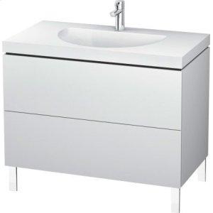 Furniture Washbasin C-bonded With Vanity Floorstanding, White Matt