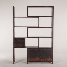 "Library Bookshelf 39"" Antique Black"