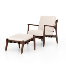 Osaka Blanco Cover Silas Chair With Ottoman