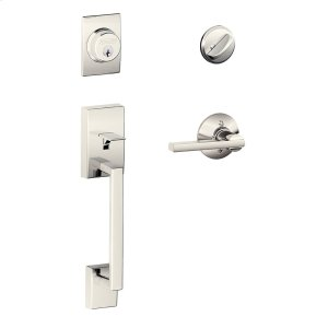 Century Single Cylinder Handleset and Latitude Lever - Polished Nickel Product Image