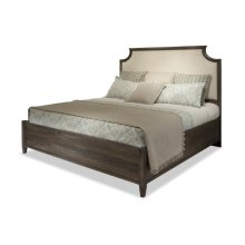 King Scallopped Upholstered Bed