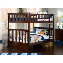 Columbia Bunk Bed Full over Full in Walnut