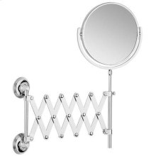 Antique Gold Extending mirror, plain / magnifying (x5)