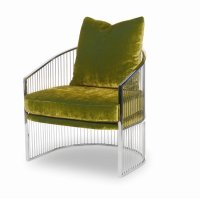Ruffalo Metal Barrel Chair Product Image