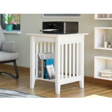 Mission Printer Stand in White