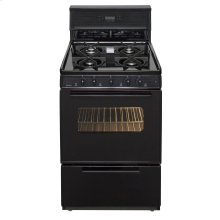 24 in. Freestanding Sealed Burner Gas Range in Black
