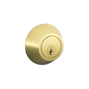 J Series One Side Keyed Deadbolt - Bright Brass Product Image