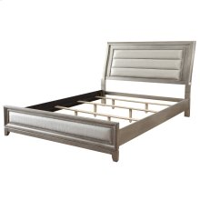 "Jayden 78"" Bed In Silver"