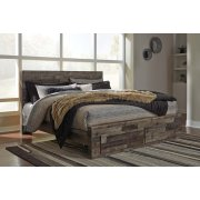 Derekson - Multi Gray 4 Piece Bed Set (King) Product Image
