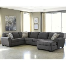 Benchcraft Sorenton 3-Piece Left Side Facing Sofa Sectional in Slate Fabric