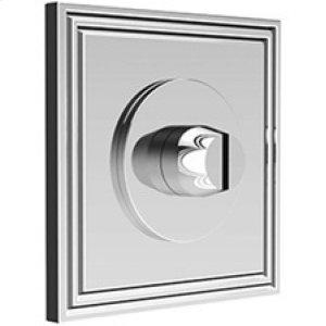 Satin Nickel Bathroom coin release, concealed fix