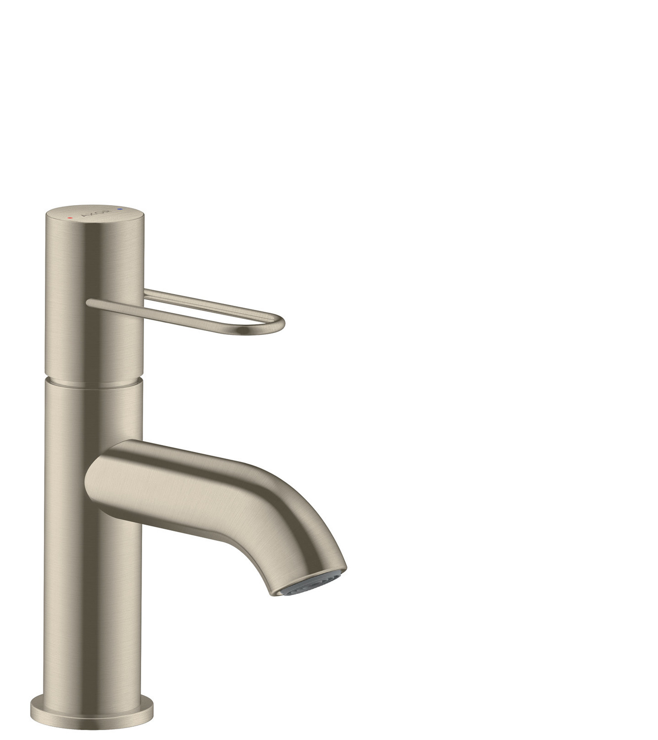 Brushed Nickel Single lever basin mixer 70 with loop handle and waste set