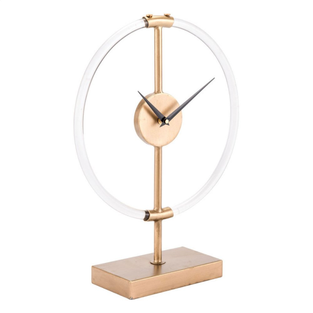 Clear Clock Gold