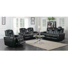 Delangelo Black Power Motion Three-piece Living Room Set