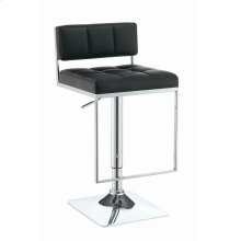 Contemporary Black Adjustable Bar Stool