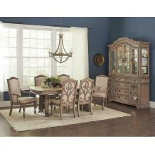 Ilana Traditional China Cabinet With Glass Doors