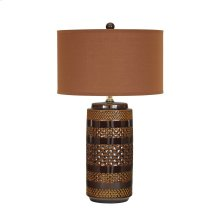 Ceramic Table Lamp (2/CN) Shadeena - Brown Collection Ashley at Aztec Distribution Center Houston Texas