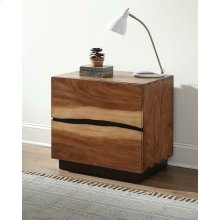 Rustic Smoky Walnut Nightstand